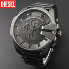 New DIESEL Mega Chief DZ4282 Grey Dial Black Wrist Watch for Men