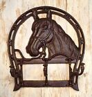Horseshoe Wall-Mount Vintage Coat/Towel Rack Holder