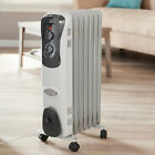 1500W Electric Oil Filled Radiator Space Heater Portable Room Radiant Thermostat