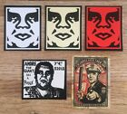 OBEY Andre The Giant Colored Sticker Set+2 More 1 Rare+Extra OBEY Stickers