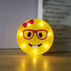 Marquee Emoji Sign Funny LED Table Lamp Night Lights For Kids Bedroom Wall Decor