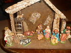VINTAGE 8PC Nativity 5 6 FIGURINES Only Italy Paper Mache FONTANINI NO Stable