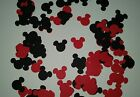 100 Mickey Mouse Silhouette Die Cut Scrapbook Embellishment 75 wide x 9 tall
