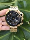 Diesel DZ7378 BAMF Gold Black Dial Chronograph Quartz 56MM NWT