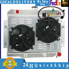 4Row RadiatorShroud+Fan For 72 86 Jeep CJ CJ5 CJ6 CJ7 GM CHEVY CONVERSION V8 75