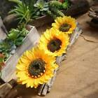 Artificial Silk Sunflower Head Flower Bridal Party Wedding Home Decor Craft