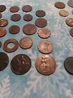Lot over 65 Old Foreign Coins 1870 up WWI  WWII era coins Some silver