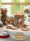 SET OF 2 Yankee Candle ICED GINGERBREAD Large Jar 22 Oz WARM WINTER MEMORIES