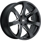 22x95 Black Milled Black Rhino Mozambique Wheels 5x55 +20 Fits DODGE DURANGO