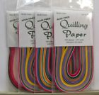 Quilling Paper Strips 1 8 4 NEW Packs Total 400 pieces Acid Free