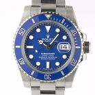 Rolex 116619 Submariner SMURF 18 Kt White Gold Sub Swiss Automatic Diver Watch