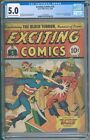 Exciting Comics 22 CGC 50 First American Eagle
