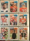 1987 Topps Football Complete Set 1-396. VG Condition