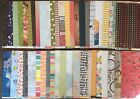 12X12 Scrapbook Paper lot 2 sided name brand high quality pattern papers