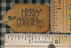 100 XSMALL MERRY CHRISTMAS PRIMITIVE PRICE GIFT CRAFT HANG TAGS LOT (228)