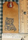 10 SMALL ~ CUTE CAT KITTEN ~ PRIMITIVE COFFEE STAINED HANG TAGS LOT (204)