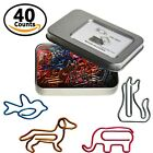 Multicolor Bookmark Clips Paper Clips 40 Counts Animal Shapes