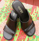 MARIPE HEELED SANDALS SIZE 7M LEATHER UPPERS DARK BROWN BACKLESS
