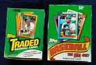 1990 Topps Baseball Trading Cards 2 Box Lot 1990 Topps and Traded Boxes