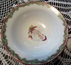 Fitz & Floyd CHRISTMASTIME Serving Bowl Santa Claus Christmas Tree Nice 4Holiday