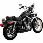 Vance  Hines Black Shortshots Staggered Exhaust for 1999 2003 Harley Sportster