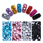 1000Pcs Glitter Crystal Nail Art Rhinestone Shiny Flat Bottom Mixed 3D Decor DIY