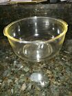 Clear Glass FIRE KING LARGE MIXER Mixing BOWL w Pour Spout for Sunbeam