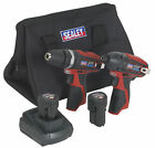 Sealey 12v Cordless Combi Drill & Impact Driver Kit 2 x 1.5ah Li-ion