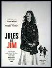 JULES AND JIM JEANNE MOREAU FRANCOIS TRUFFAUT 1962 FRENCH 23x32 LINENBACKED