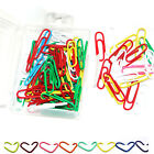 80 PAPER CLIPS LARGE SIZE ASSORTED COLORS QUALITY ITEM PAPERCLIPS WL