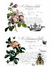 Vintage Image French Flower Labels Furniture Transfers Waterslide Decals MIS635