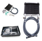 PRO Motorcycle Engine Oil Cooler Cooling Radiator Metal w/Aluminum Parts Durable