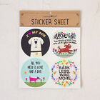 Great DOG MINI sticker set Natural Life Set of 4 different stickers Cute