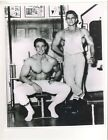 Vince Gironda +Bill Smith Star Of TV Muscle Photo b+w ORIGINAL 8