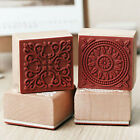 Vintage Flower Lace Square Wooden Rubber Stamp Seal Scrapbook Paper Craft WL