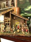 Italian NATIVITY SET  Christmas Creche  11 Figures  Manger  Italy
