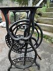 ANTIQUE NEW HOME TREADLE SEWING MACHINE CAST IRON BASE Industrial Pick Up Only