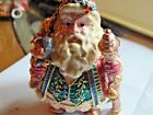 Fitz and Floyd Jeweled metal trinket box with St. Nick  in all his GLORY!