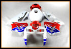 Fairing White Blue Red Injection Kit Fit for Honda 2005 06 CBR600RR F5 ABS n001