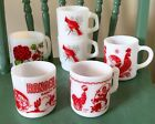Collection Lot 6 Assorted Vintage Milk Glass Coffee Mugs Cups Fire King~Anchor~