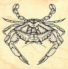 BLUE CRAB Wood Mounted Rubber Stamp JUDIKINS 3436F New