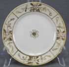 Set of 3 Nippon Morimura Hand Painted Gold Rose & Moriage Bread Plates 1911 - 21