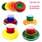 4 PCS Inflatable Floating Drink Holders Pool Swim Party Float Cup USA seller