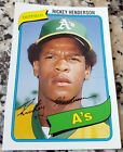 Rickey Henderson Cards, Rookie Card and Autographed Memorabilia Guide 4