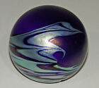 Beautiful Blue Ocean Wave paperweight - unsigned Lundberg or O&F?