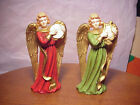 Vintage Nativity Angels Lrg 6 1 4 tall Paper Mache Japan Harp Tamborine