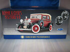 FRANKLIN MINT 1932 FORD V-8 BONNIE & CLYDES CAR MAROON BLACK 1/24 SCALE  NEW
