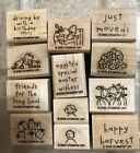 Stampin Up LOADS OF LOVE ACCESSORIES Rare Retired Rubber Stamp Set NEW