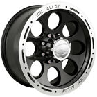 15x8 Black Alloy Ion Style 174 5x55 27 Rims Open Country AT II 215 75 15