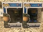 TWO Funko POP Halo Master Chief BLUE and GREEN! Barnes & Noble Exclusive- New